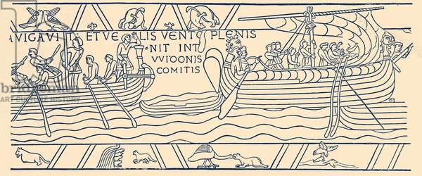 Bayeux Tapestry: Harold sailing from Bosham
