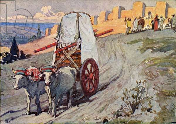 The ark sent away by J James Tissot - Bible