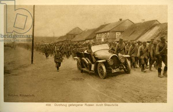 Eastern Front towns under WWI German occupation