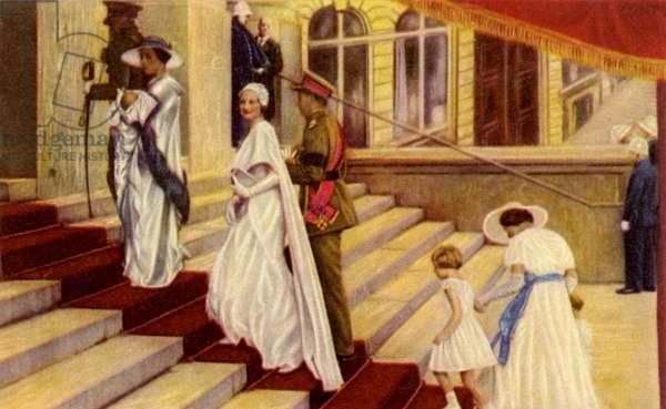 Belgian Royal Family at baptism of Prince Albert of Liege
