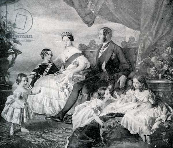 Queen Victoria with Prince Albert and their children