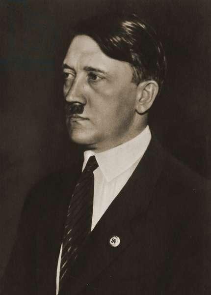 Adolf Hitler wearing tie