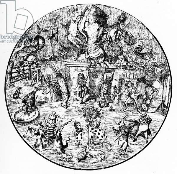 John Tenniel 's illustrations from Alice in Wonderland