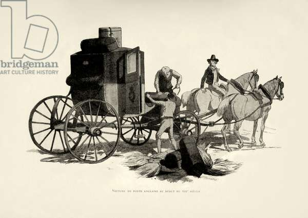 English post carriage at beginning of 19th century