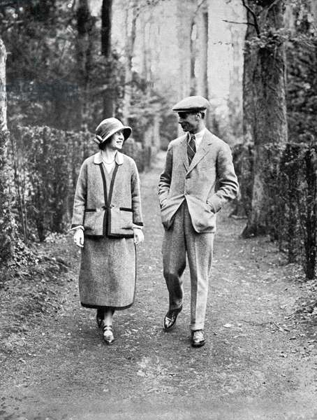 Duke and Duchess of York on honeymoon
