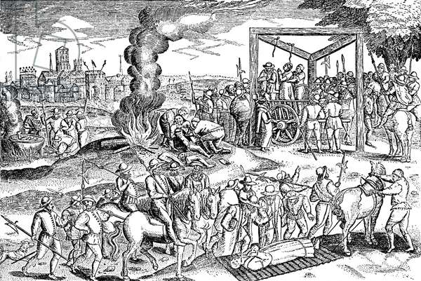 The hanging of Protestants in England