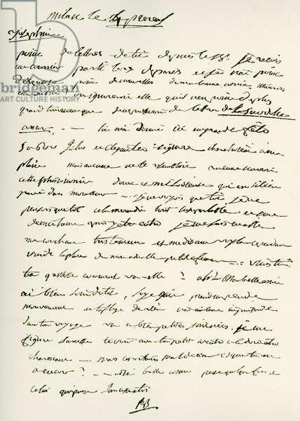 Letter from Napoleon Bonaparte -