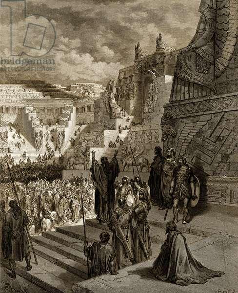 Artaxerxes granting liberty to the Jews. - Bible