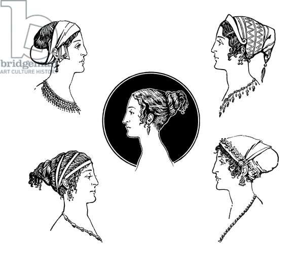 Ancient Greek hairstyles. Queen Judith