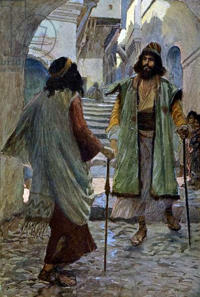 Saul meets Samuel by J James Tissot - Bible
