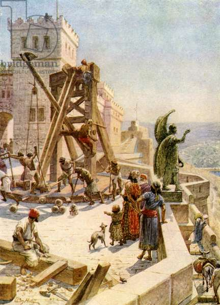 Uzziah erects engines of war on the walls - Bible