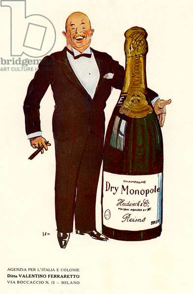 Advertisement for Dry Monopole champagne, 1928