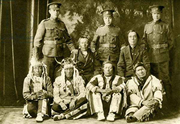 Cree First Nations Canadians during World War 1