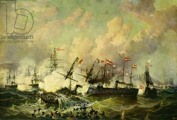 The sea battle at Lissa, 20 July 1866