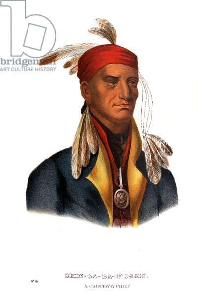 Shingaba W'Ossin ('Image Stone'), a Chippeway Chief