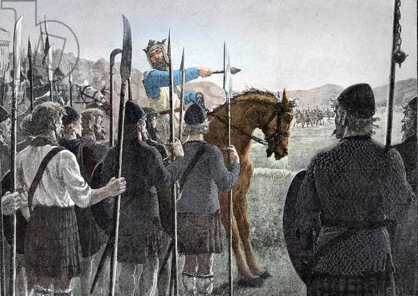 Battle of Bannockburn - Robert the Bruce reviewing his troops