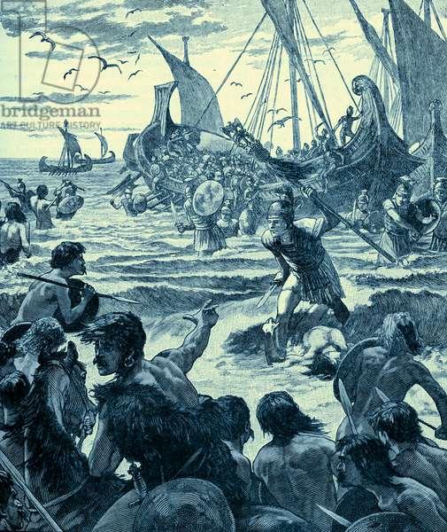 Roman invasion of Britain - early 20th century illustration