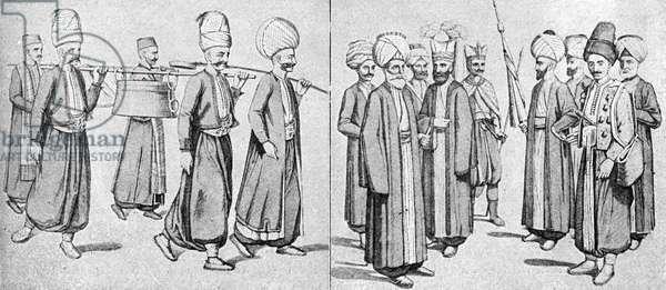 Janissaries in uniform