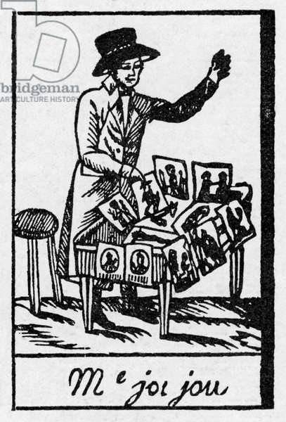Print seller - wood engraving, c. 1815