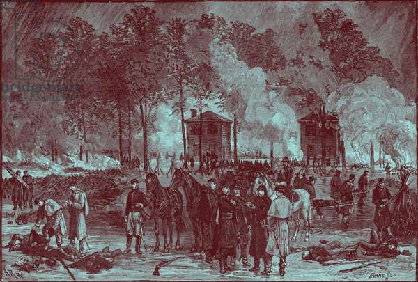 Burying the dead, and buring horses- American Civil War