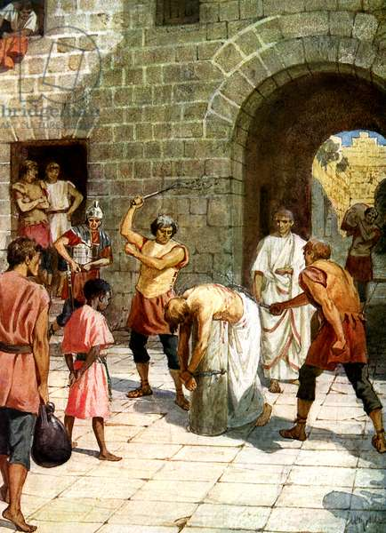 Pilate orders Jesus to be scourged - Bible