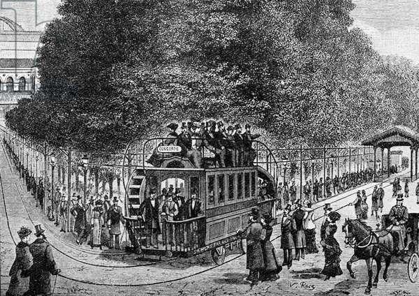Electric tramway by Siemens at Place de la Concorde, Paris