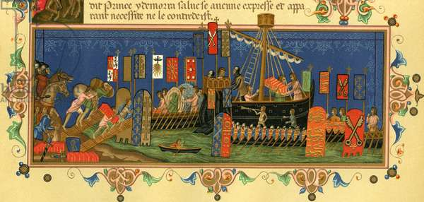 Departing for the Crusades