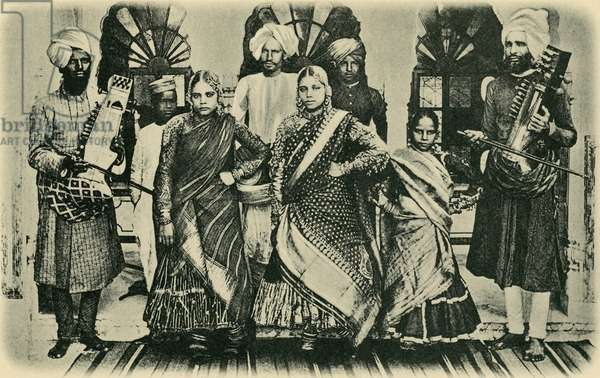 Dancing girls and musicians, India