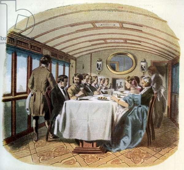 Royal Russian railway, 1864: restaurant carriage