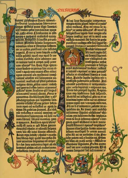 Commentary on Solomon's 'Parables' from Gutenberg's Latin bible