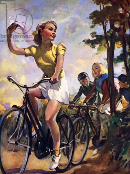Young cyclists in the countryside