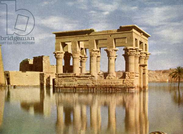 The Temple of Trajan, on the Island of Philae, Egypt