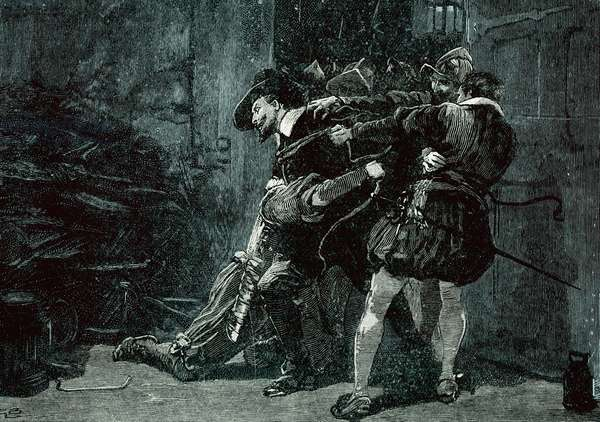 The arrest of Guy Fawkes