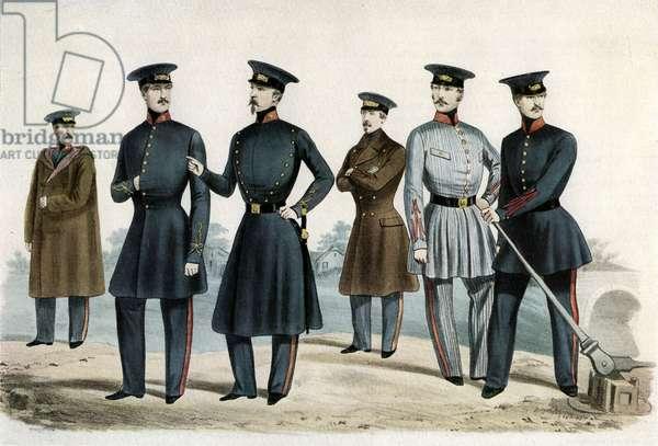 Staff uniforms, Saint-German and Versailles Railway, 1840