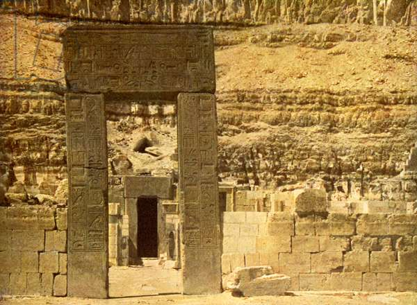 Holy of Holies in the Temple of El Bahri, Egypt.