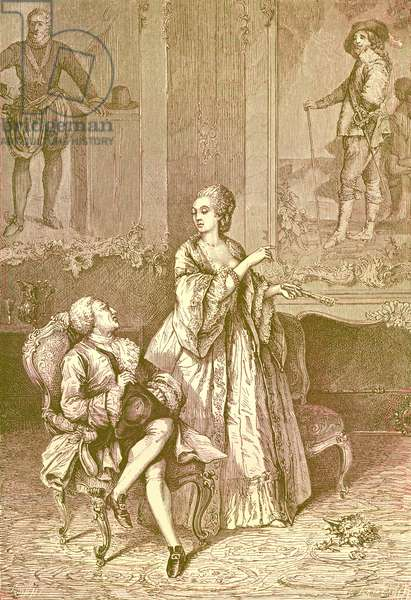 Louis XV and Madame du Barry