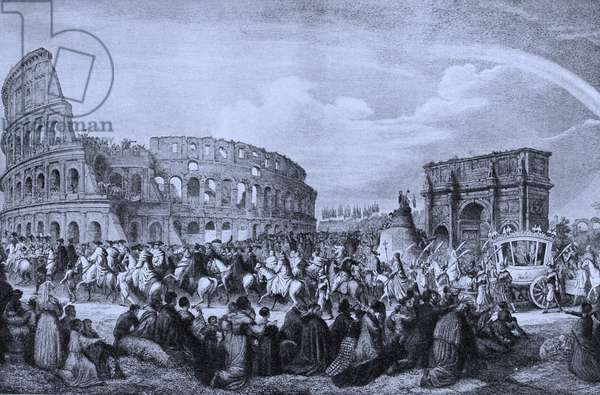 Pope Pius IX at the Colosseum