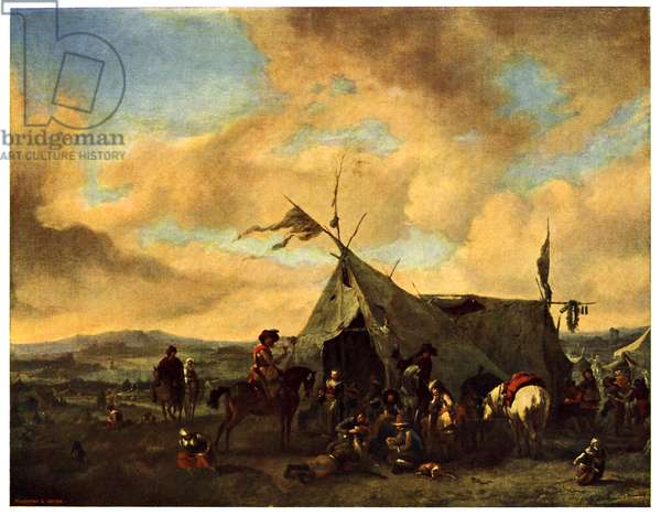 Encampment at the time of the Thirty Years' War