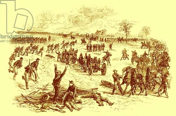 American Civil War - capturing Confederate weapons