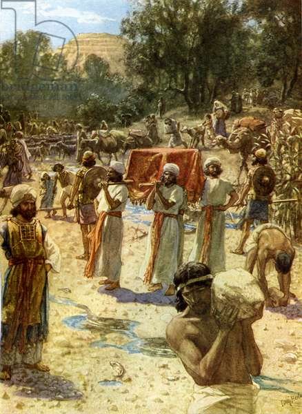 The Israelite  Priests holding the Ark - Bible