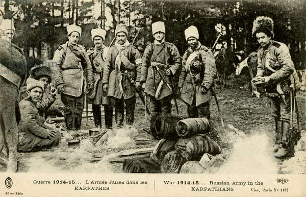 World War 1: Russian Army in the Carpathian Mountains