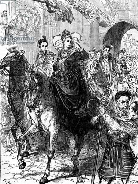 Queen Elizabeth I enters London, 23 December 1558