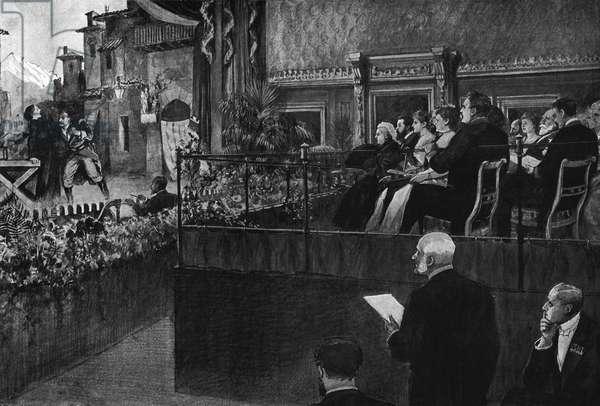 Queen Victoria watching opera