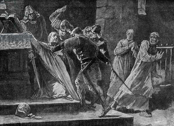 Thomas Becket 's murder in Canterbury Cathedral