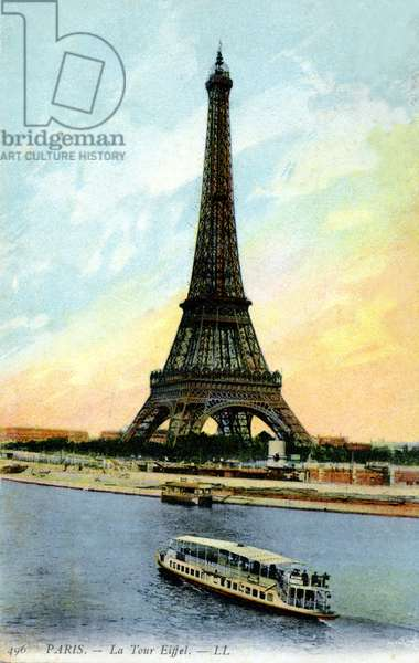 Eiffel Tower, Paris. Early 20th century.