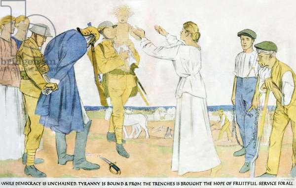 The Triumph of Democracy by William Rothenstein