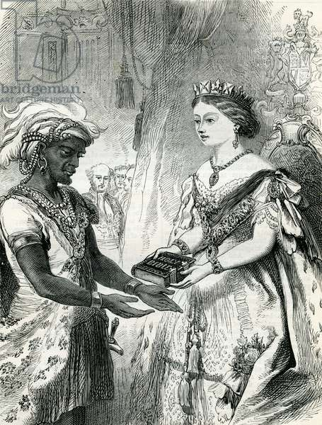 Queen Victoria  meeting an African Prince