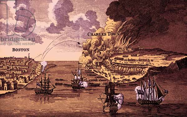 Attack on Bunkers 's Hill and burning of Charlestown