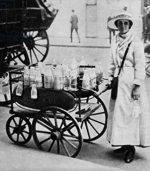Milk woman, WW1