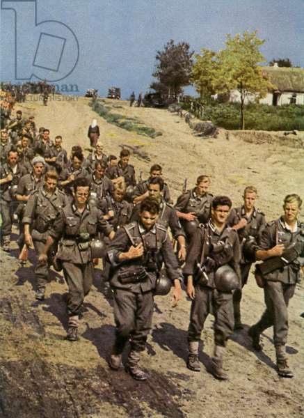 German soliders marching, World War 2